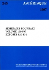 Séminaire Bourbaki, volume 1996/97, exposés 820-834