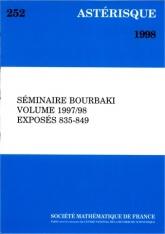 Séminaire Bourbaki, volume 1997/98, exposés 835-849