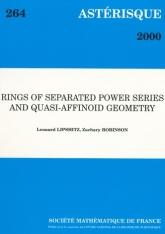 Anneaux de séries séparées et géométrie quasi-affinoïde