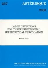 Grandes déviations pour la percolation supercritique en dimension trois