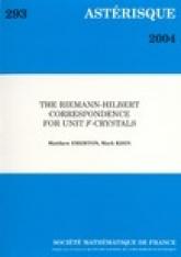 La correspondance de Riemann-Hilbert pour les $F$-cristaux unités