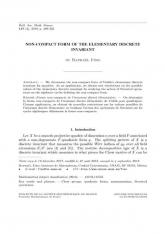Forme non compacte de l'invariant discret élémentaire