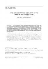 Quelques remarques sur l'optimalité de la condition de Bruno-Rüssmann