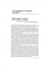 En hommage à Philippe Flajolet