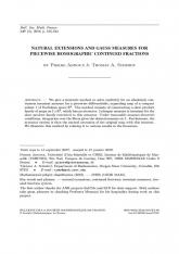 Extensions naturelles et mesures de Gauss pour des algorithmes de fraction continues homographiques par morceaux