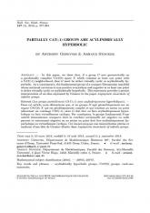 Les groups partiellement CAT(-1) sont acylindriquement hyperboliques