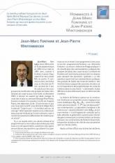 Hommages à Jean-Marc Fontaine et Jean-Pierre Wintenberger