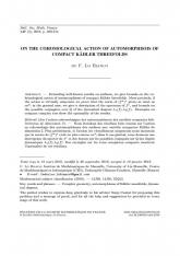 Sur l'action cohomologique des automorphismes des variétés compactes kähleriennes de dimension 3
