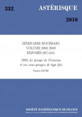 Exposé Bourbaki 998 : Le groupe de Cremona et ses sous-groupes de type fini
