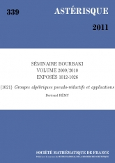 Exposé Bourbaki 1021 : Groupes algébriques pseudo-réductifs et applications d'après J. Tits et B. Conrad, O. Gabber, G. Prasad