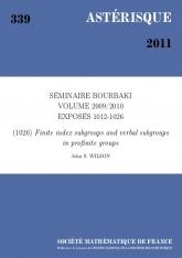 Exposé Bourbaki 1026 : Sous-groupes d'indice fini et sous-groupes verbaux des groupes profinis