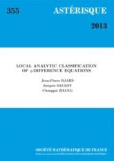 Classification analytique locale des équations aux $q$-différences