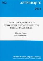Théorie des espaces $\mathcal {H}_p$ pour des filtrations continues dans des algèbres de von Neumann