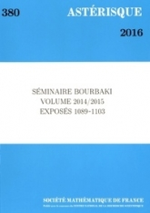 Séminaire Bourbaki, volume 2014/2015, exposés 1089-1103
