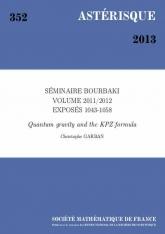 Exposé Bourbaki 1052 : Gravité quantique et relation KPZ d'après Duplantier-Sheffield
