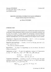 Exposé Bourbaki 1138 : Groupes convexes-cocompacts en rang supérieur (d'après Labourie, Kapovich, Leeb, Porti, ...)