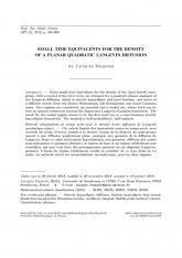 Équivalents en temps petit pour la densité d'une diffusion de Langevin quadratique plane