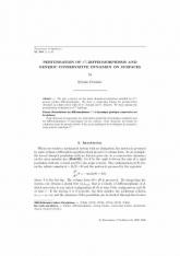 Perturbations des difféomorphismes $C^1$ et dynamique générique conservative sur les surfaces