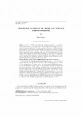 Distorsion pour les groupes de difféomorphismes du cercle et des surfaces
