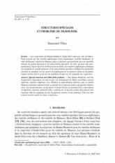 Structures spéciales et problème de Zilber-Pink