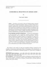 Sémantique catégorielle de la logique linéaire