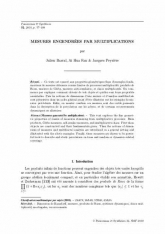 Mesures engendrées par multiplications