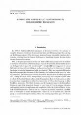 Laminations affines et hyperboliques en dynamique holomorphe