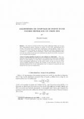 Algorithmes de comptage de points d'une courbe définie sur un corps fini