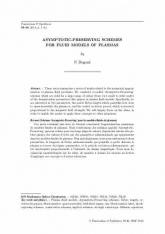 Schémas 'Asymptotic-Preserving' pour les modèles fluides de plasmas