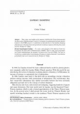 Amortissement Landau