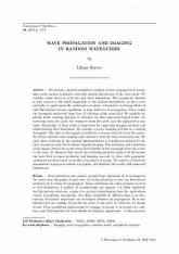 Wave propagation and imaging in random waveguides