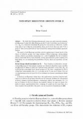 Groups réductifs non-déployés sur $\mathbf Z$