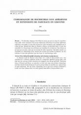 Cohomologie de Hochschild non abélienne et extensions de faisceaux en groupes