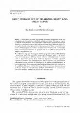 Schémas de groupes obtenus à partir de lois de groupe birationnelles, modèles de Néron