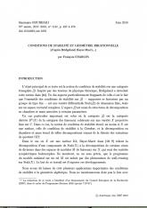 Exposé Bourbaki 1147 : Conditions de stabilité et géométrie birationnelle (d'après Bridgeland, Bayer-Macri,...)