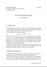 Exposé Bourbaki 1148 : On the Monge-Ampère equation