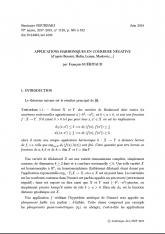 Exposé Bourbaki 1149 : Applications harmoniques en courbure négative (d'après Benoist, Hulin, Lemm, Markovic,...)