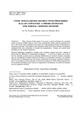 Métriques singulières coniques avec courbure scalaire prescrite: estimées à priori pour les diviseurs à croisements normaux