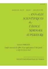 Simple connexité des fibres d'une application d'Abel-Jacobi et corps de classe local