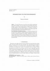 Introduction à l'homologie des foncteurs