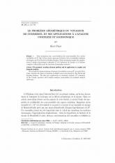 Le problème géométrique du voyageur decommerce, et ses applications àl'analyse complexe et harmonique
