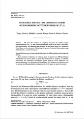 Hérissons pour les germes dissipatifs neutres des difféomorphismes holomorphes de $ (\mathbb{C}^{2},0)$
