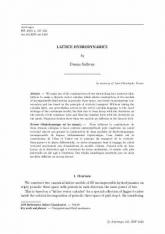 Hydrodynamique sur les réseaux