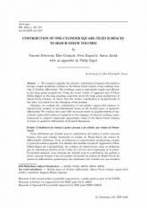 Contribution des surfaces à petits carreaux à un cylindre aux volumes de Masur-Veech