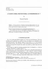 Un lemme de fermeture pour les automorphismes polynomiaux de $\mathbb C^2$