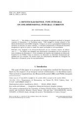 Une intégrale à la Henstock-Kurzweil sur les courants entiers de dimension $1$