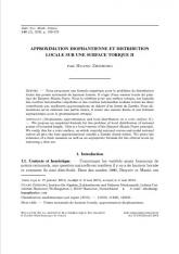 Approximation diophantienne et distribution locale sur une surface torique II