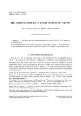 Multiplicateur de Schur des groupes symplectiques finis