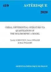 Les opérateurs différentiels chiraux via la quantification du modèle sigma holomorphe