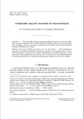 Tenseurs de Killing symétriques sur les nilvariétés